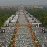 International Yoga Day Celebration at Rajpath in Delhi
