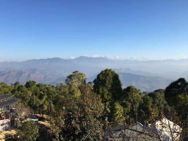 Beautiful Himalayan Range in Ranikhet